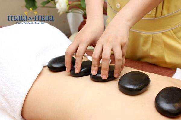Massage đá nóng mang lại rất nhiều lợi ích cho cơ thể